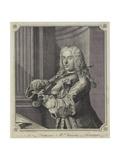 Francesco Ma Veracini  Engraved by J June (FlC1740-70)  1744