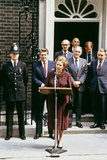 Margaret Thatcher Welcoming Ronald Reagan Outside No 10 Downing Street