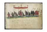 Laing Ms III 283  Fol58R  St George's Day Royal Procession  from the 'Album Amicorum' of…