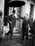 Neville Chamberlain Leaving the House of Commons  1933