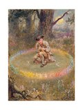 The Fairy Ring- the Enchanted Piper  C1880
