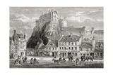 Castle and Grassmarket  Edinburgh  Scotland  from 'scottish Pictures Drawn with Pen and Pencil' …