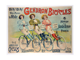 Poster Advertising Gendron Bicycles  Published by Chambrelent  Paris