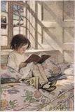 A Girl Reading  from 'A Child's Garden of Verses' by Robert Louis Stevenson  Published 1885