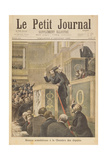 Title Page Depicting the Scandalous Meeting of the House of Deputies: Jean Jaures Attacked by…