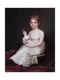 A Girl Holding a Doll  1804