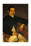 Portrait of a Man in Traditional Filipino Costume