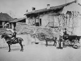 Stables at Villa Clara  with the Queen's Carriage  C1870-80