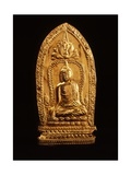 Votive Plaque Depicting Buddha Subduing Mara
