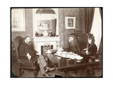 A 'Herald Conversation' at the Waldorf Astoria Hotel  1899 or 1900