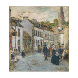 Street in Pont Aven - Evening  1897