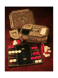 Antique Backgammon Set and Boards