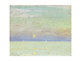 Moonrise at Sunset  Cape Ann  1892