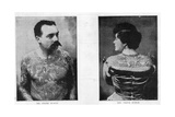 Mr and Mrs Frank Burgh Demonstrate the Art of Tattooing in Usa  1893