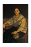 Portrait of a Woman in Traditional Filipino Costume