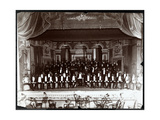 Minstrels and Band on Stage  New York  C1898