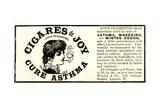 Advertisement for 'Cigares De Joy (Joy's Cigarettes)'  1890s
