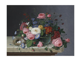 Still Life with Flowers and Bird's Nest  after 1860