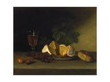 Still Life with Wine  Cake  and Nuts  1819
