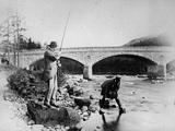General Grey Fishing at the Bridge of Dee  C1892