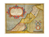 Celebrated Places in Judea and Israel  from the 'Theatrum Orbis Terrarum'  1603