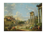 View of Campo Vaccino in Rome  1740