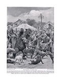 Bear Baiting in Saxon Times  from 'Hutchison's Story of the British Nation'  C1920