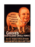 Advertisement for 'Grove's Tasteless Chill Tonic'  1890s