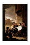 Saint Thomas of Villanueva Dividing His Clothes Among Beggar Boys  C1667