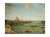 The Thames from the Terrace of Somerset House  Looking Towards the City  C1745