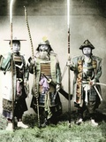 Samurai of Old Japan Armed with Long Bow  Pole Arms and Swords  1883