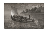 Arminio Vambery and His Companions Navigating the Caspian Sea in 1863  Illustration from 'The…