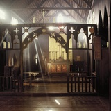 Interior of St James Anglican Church in Kampong Quop  Sarawak  Malaysia