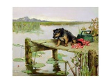Terrier - Fishing  C1890