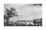 Port of La Rochelle  Seen from the Small Shore  1762