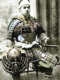 Samurai of Old Japan Armed with Full Body Armour  C1880