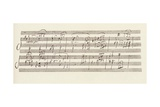 Portion of the Manuscript of Beethoven's Sonata in A  Opus 101