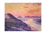 Sunset at Ambleteuse  Pas-De-Calais  1899