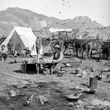 Campsites Among the Foothills  C1875-1900