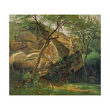 Rocks at Fontainebleau  1842