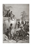 Hawaiian King Kamehameha I and His Warriors  Illustration from 'The World in the Hands' …