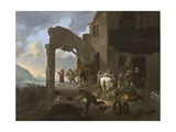 Soldiers Looting a Peasant Family  C1650