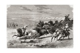 Argentinian Gauchos Rounding Up Wild Horses  Illustration from 'The World in the Hands'  Engraved…