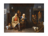 The Interior of an Inn with Peasants Smoking  1647