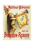 Poster Advertising 'Biberon-Robert' Baby Bottles