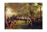 Lunch Given by Louis-Philippe for Queen Victoria in the Forest of Eu  6th September 1843  1844…