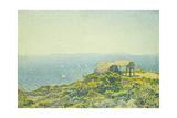 L'Ile Du Levant  Vu Du Cap Benat  1893