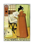 Poster Advertising 'N Lembree' Art Shop  Brussels  1898