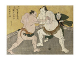 The Wrestling Match Between Kimenzan Tanigoro and Edogasaki Gemji