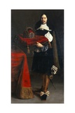 Portrait of Georg Ludwig Graf Von Sinzendorf Holding the Crown of the Holy Roman Empire  1653 or…